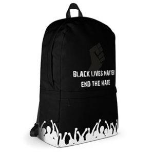 Der Black Lives Matters Rucksack in der seitlichen Ansicht